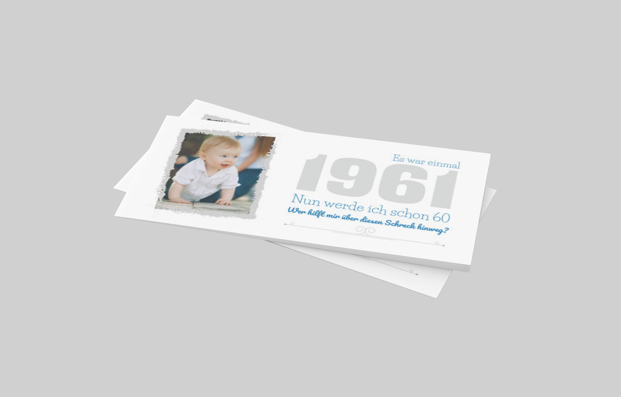 Einladungskarte Geburtstag Kreiderahmen