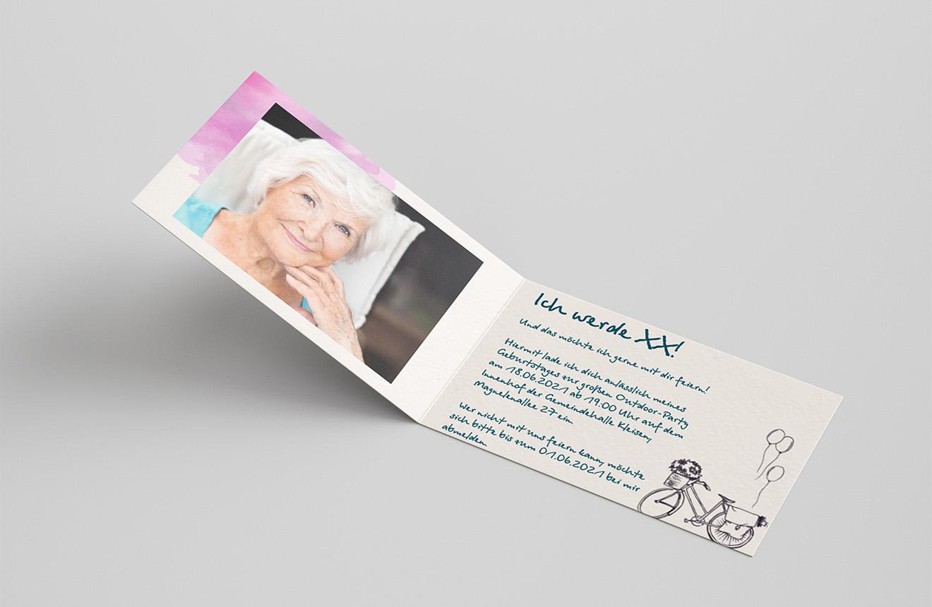 Einladungskarte Geburtstag Fahrrad