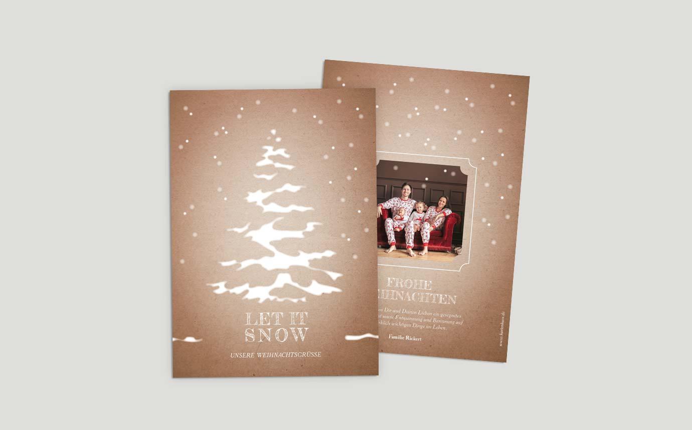 Weihnachtskarten Schneetannenbaum