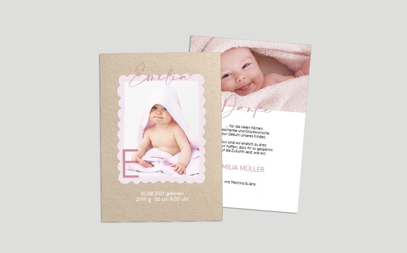 Babykarte Hello