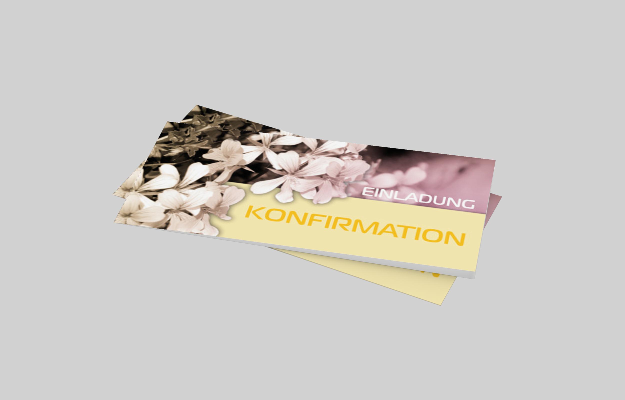 Einladungskarte Konfirmation Blumenpracht