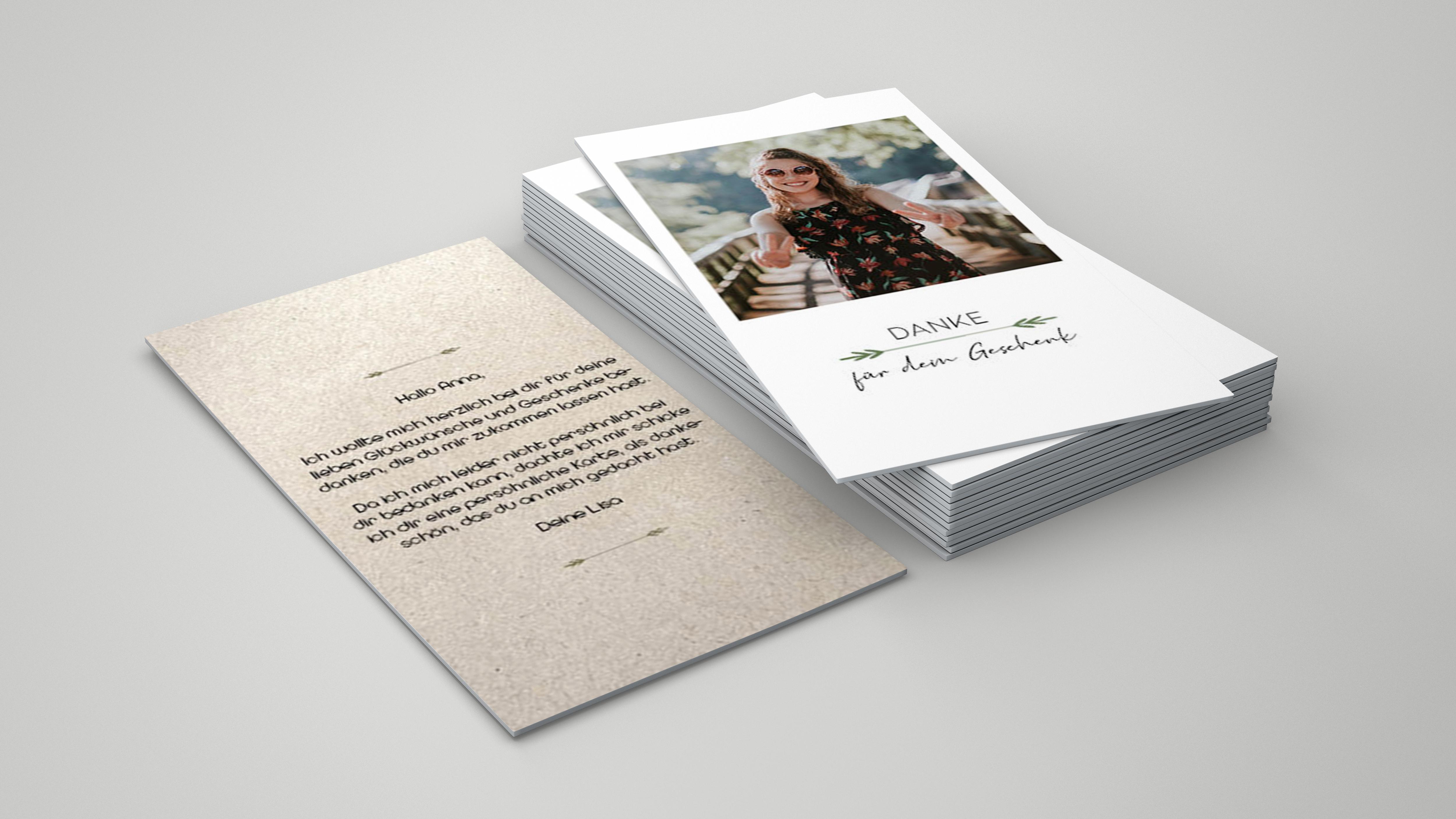 Dankeskarte Polaroid