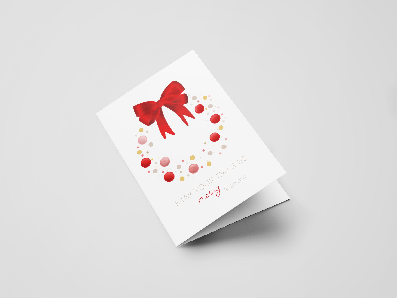 Weihnachtskarten Adventskranz