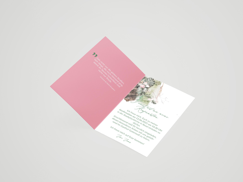 Einladungskarte Konfirmation Sally
