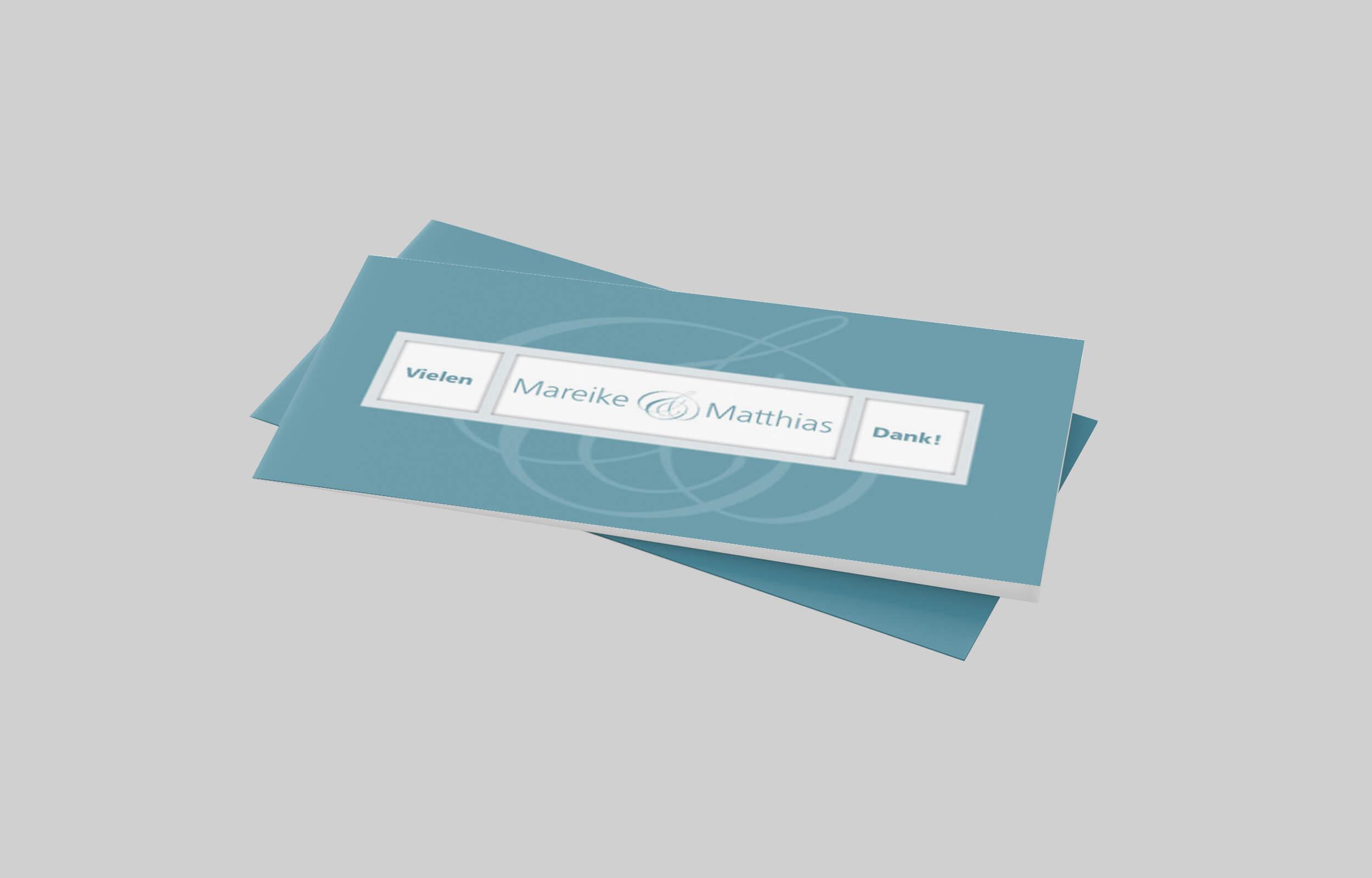 Dankeskarte Silberhochzeit Gradlinig und Fein