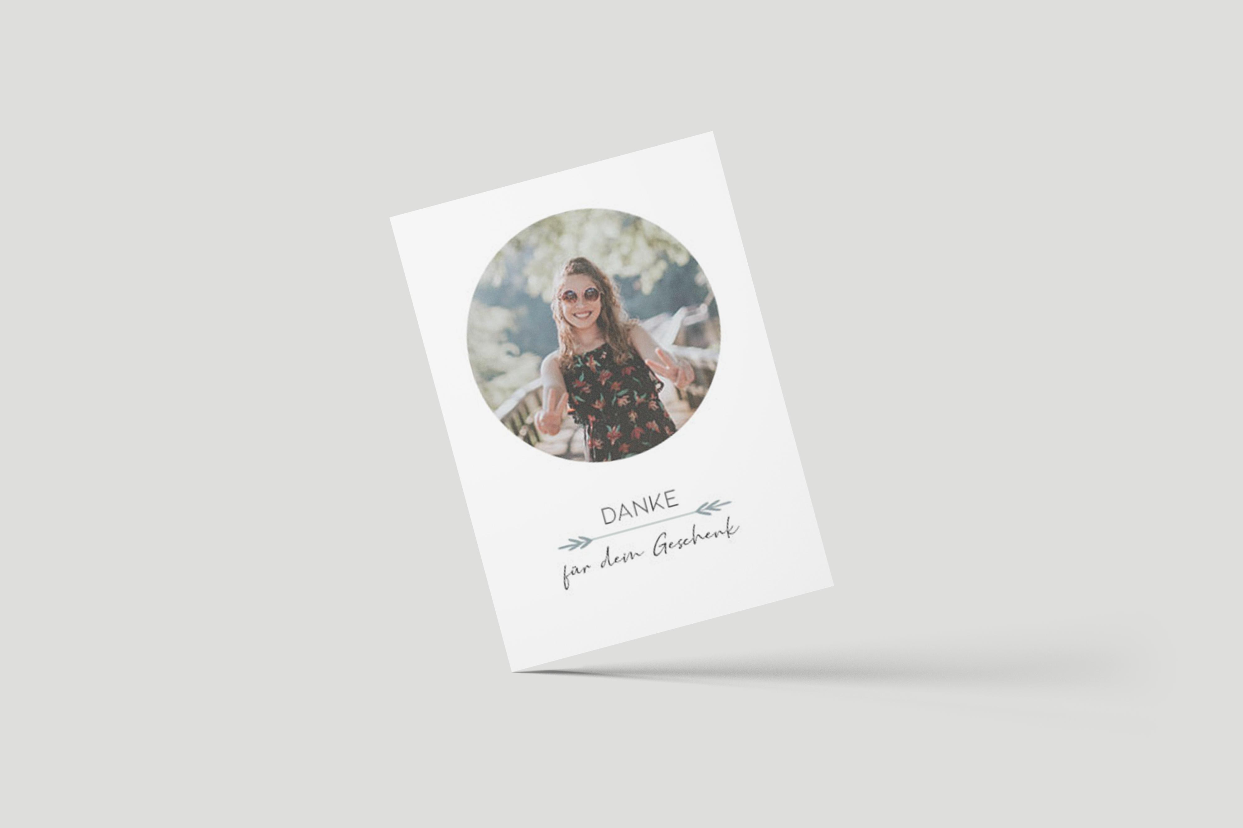 Dankeskarte Polaroidkreis