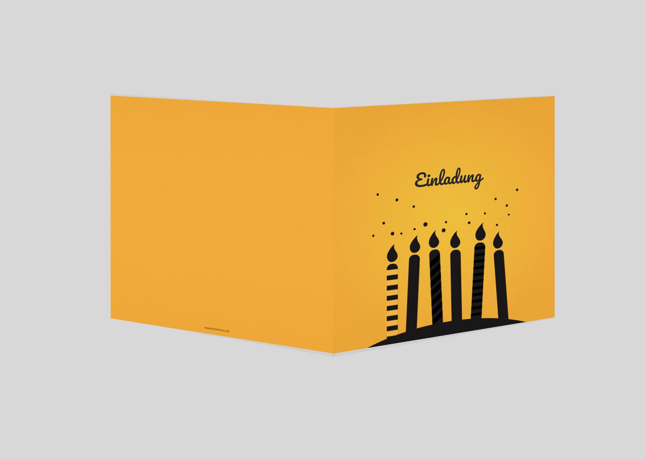 Geburtstagseinladung Stabkerzen