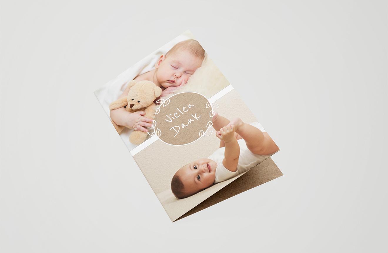 Babykarte Ornament
