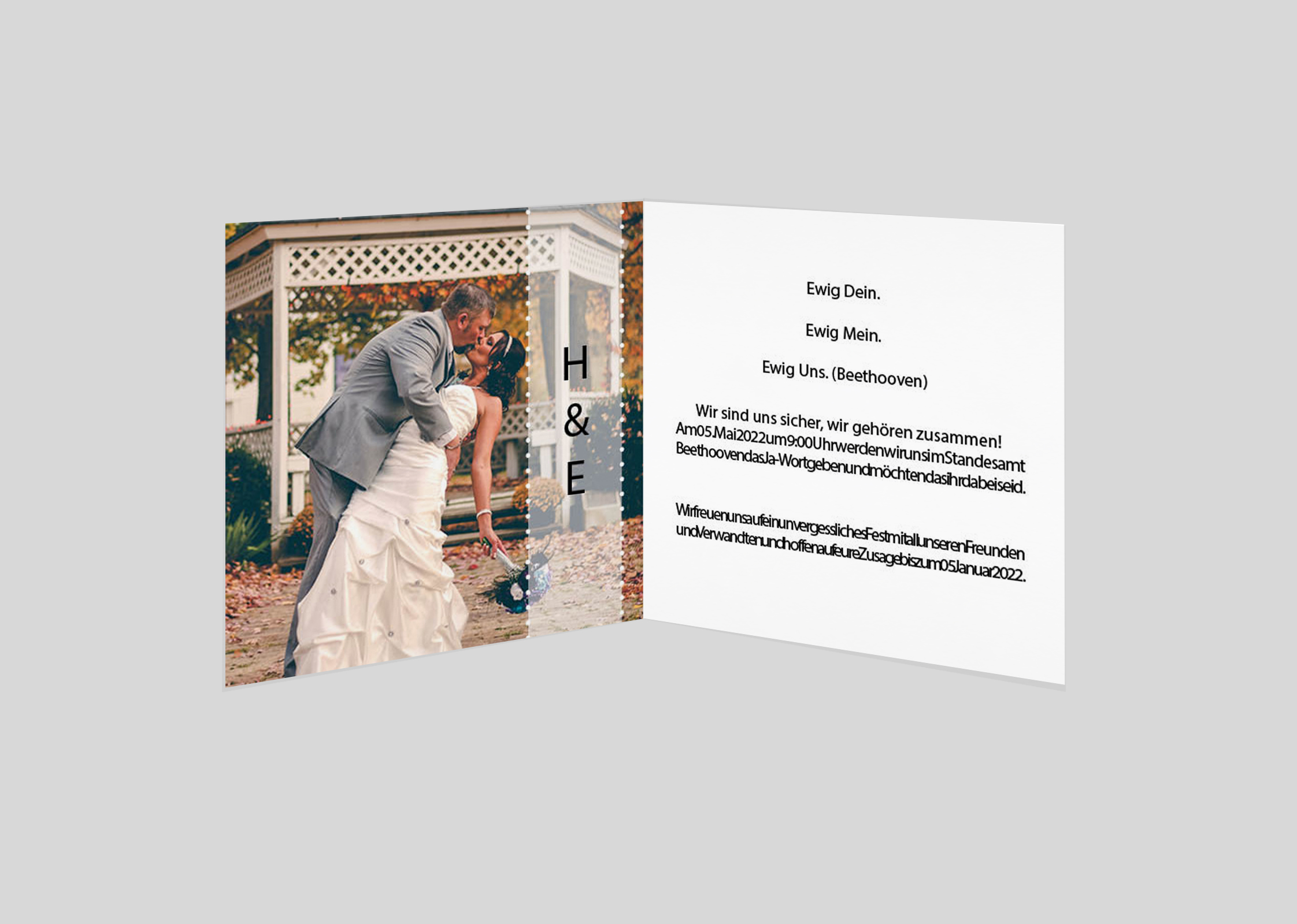 Hochzeitseinladung Romance