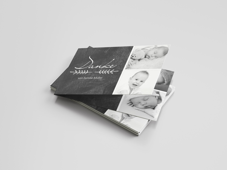 Danksagungskarte Geburt Familienzweig
