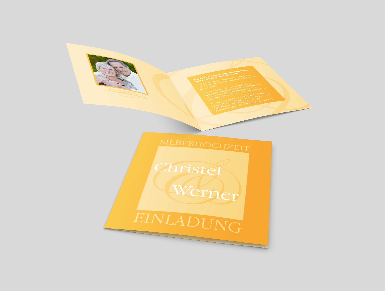 Einladungskarte Silberhochzeit Klassisch und Schön