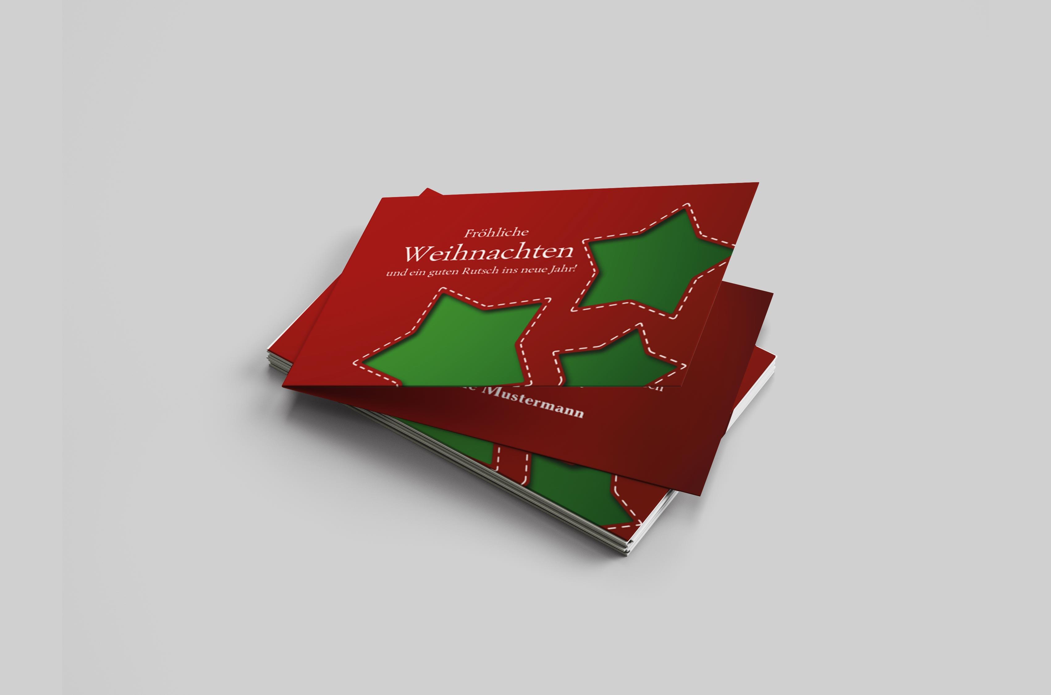Weihnachtskarte Sterne
