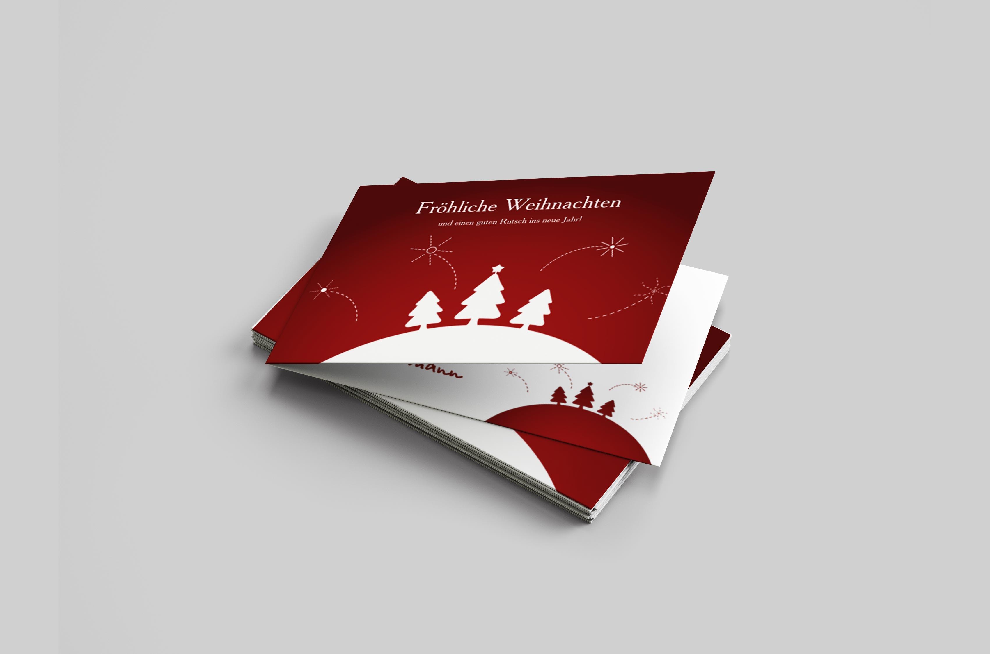 Weihnachtskarte Feuerwerk