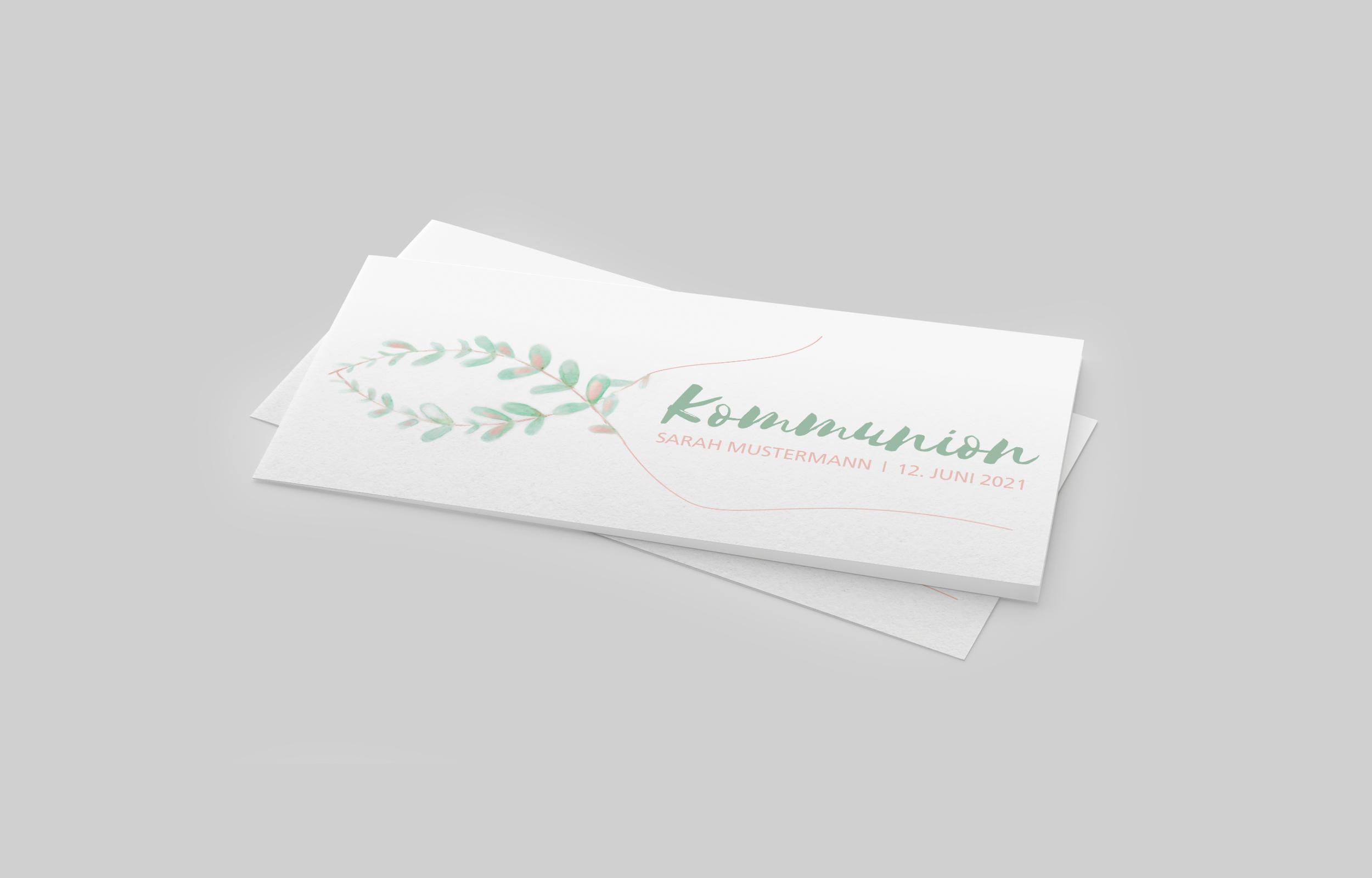 Einladungskarte Kommunion Fisch