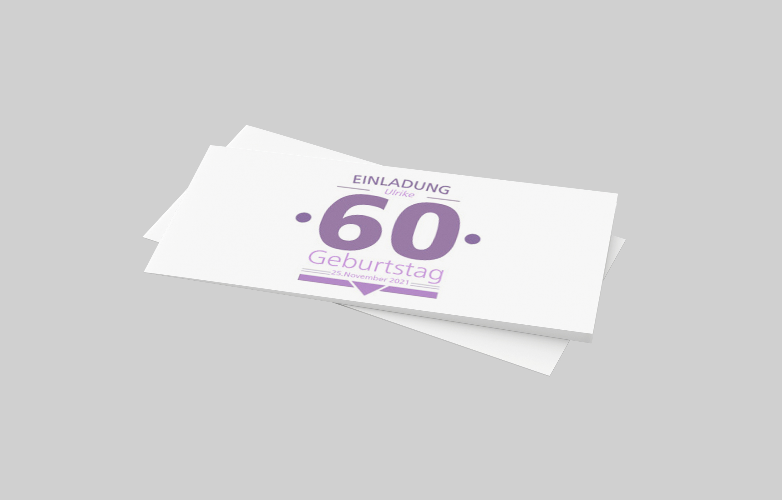 Einladungskarte Geburtstag Dezente 60