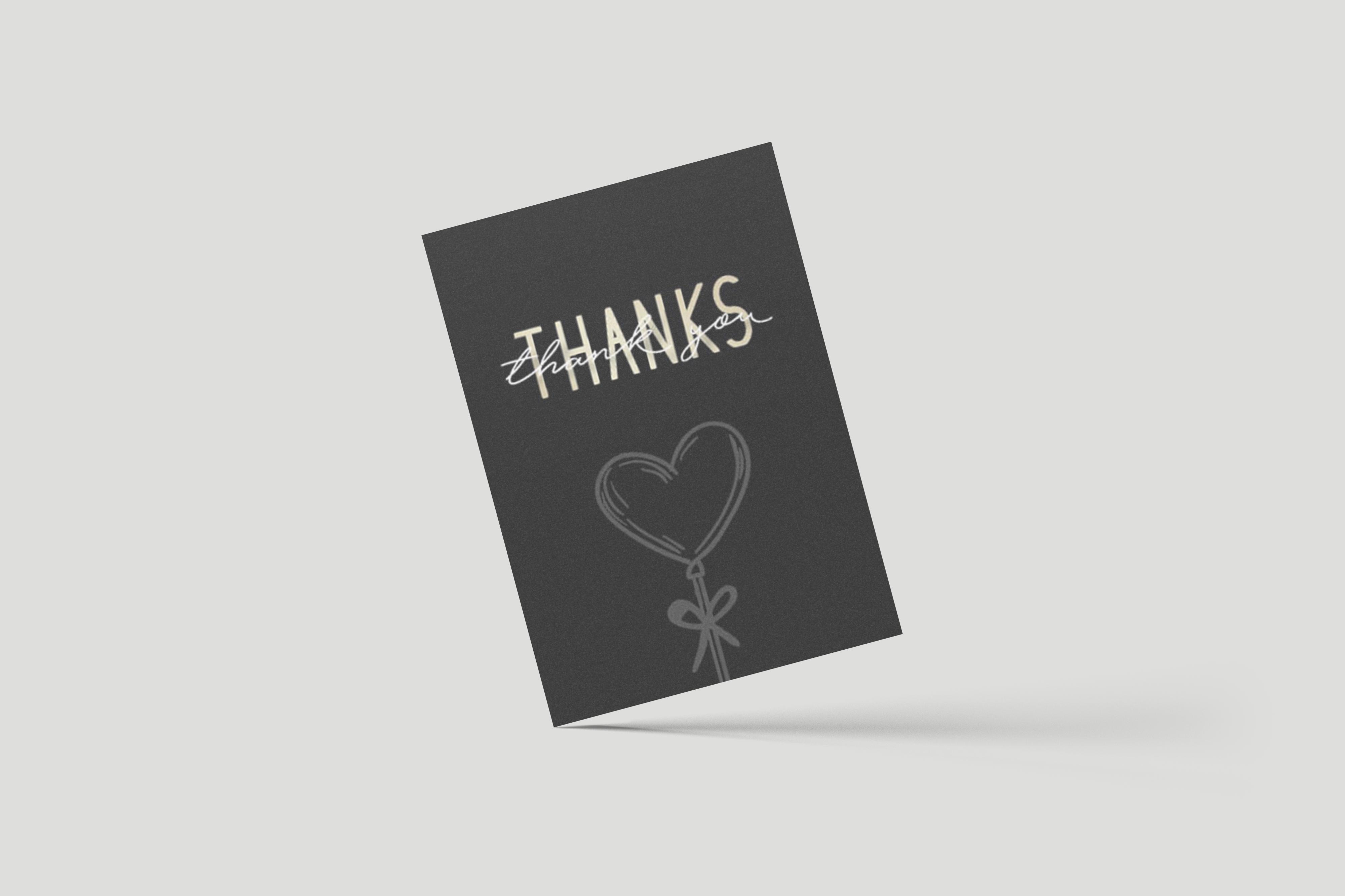 Dankeskarte Thanks