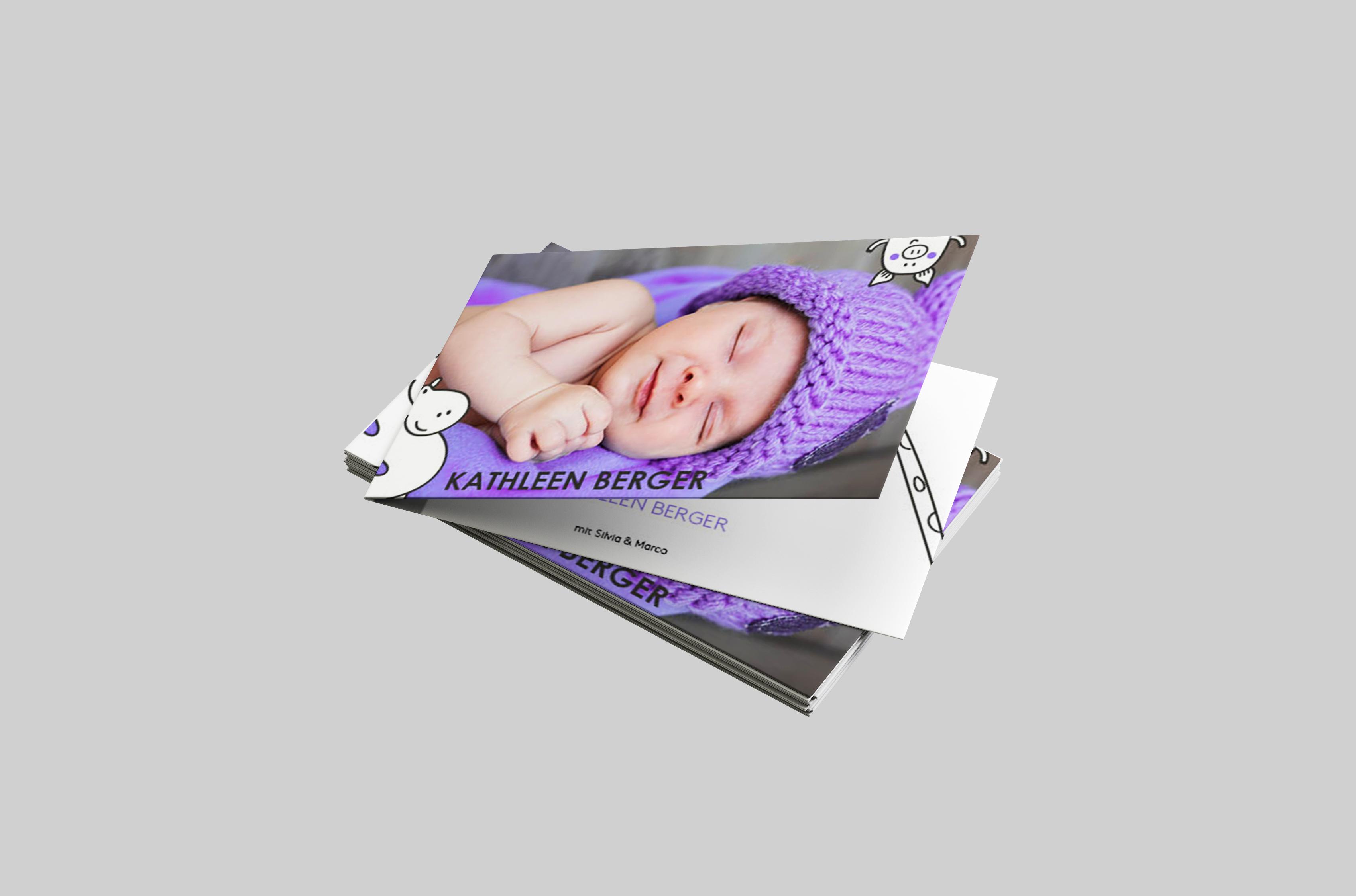 Babykarte Verspielt