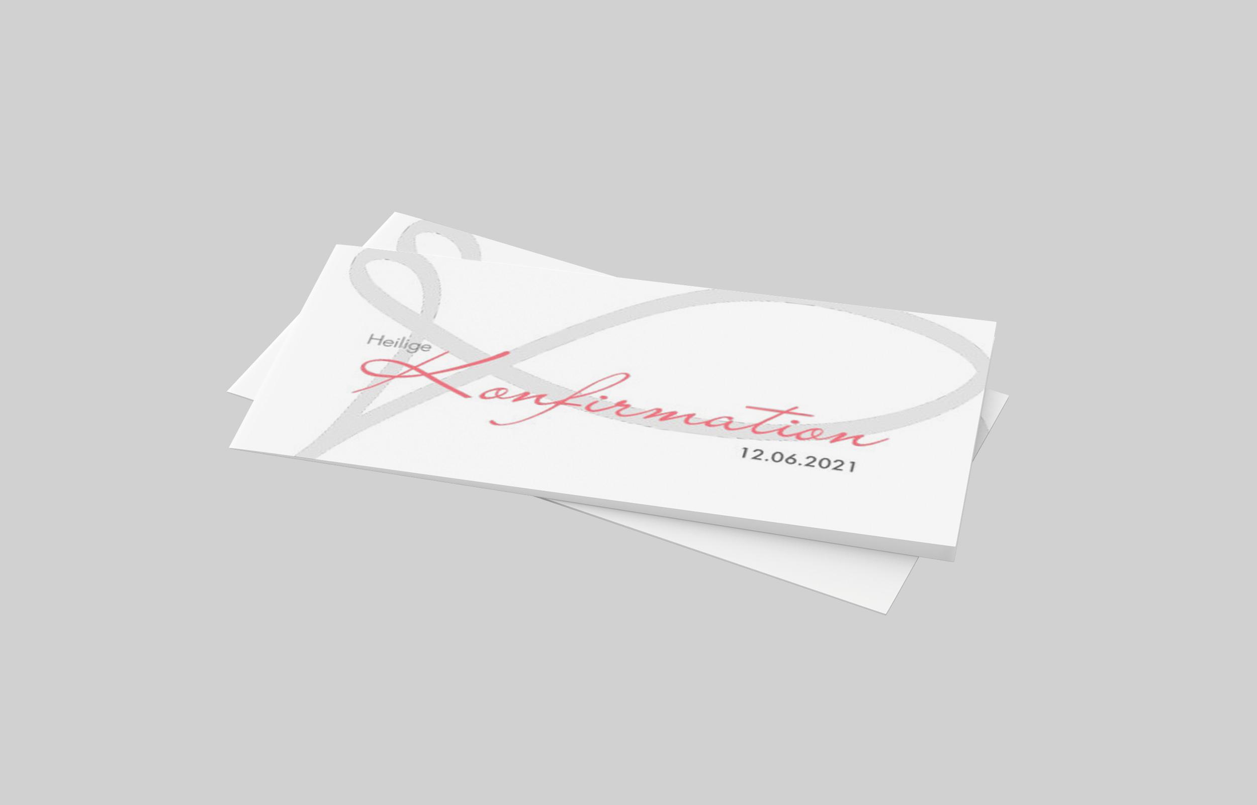 Einladungskarte Konfirmation Aufgepinselter Fisch