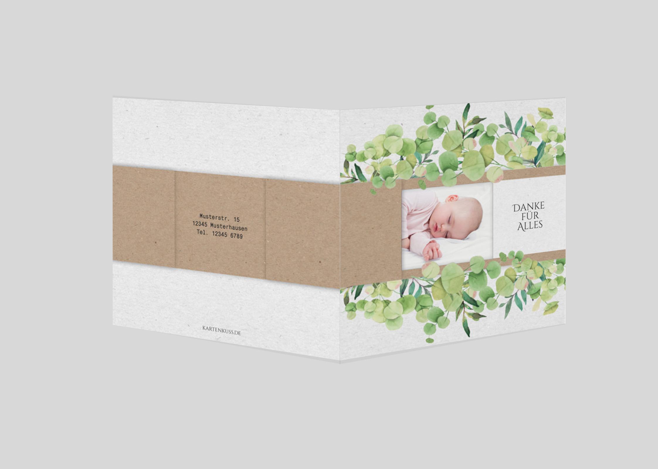 Babykarte Naturell