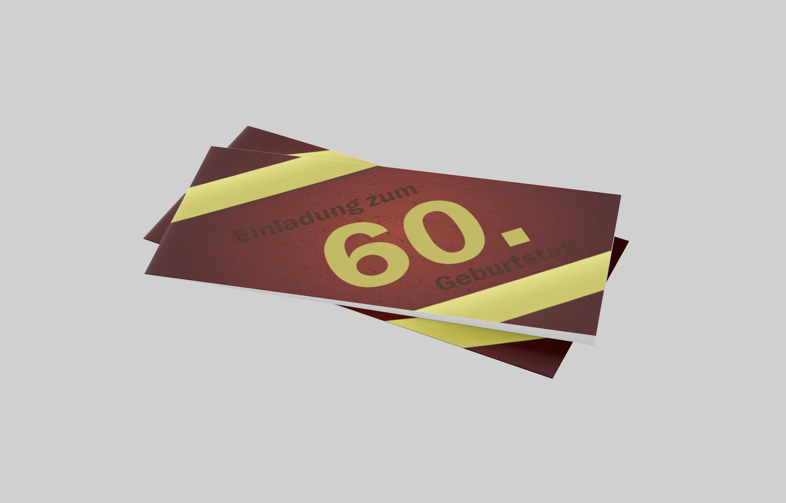 Einladungskarte Geburtstag Goldstreifen