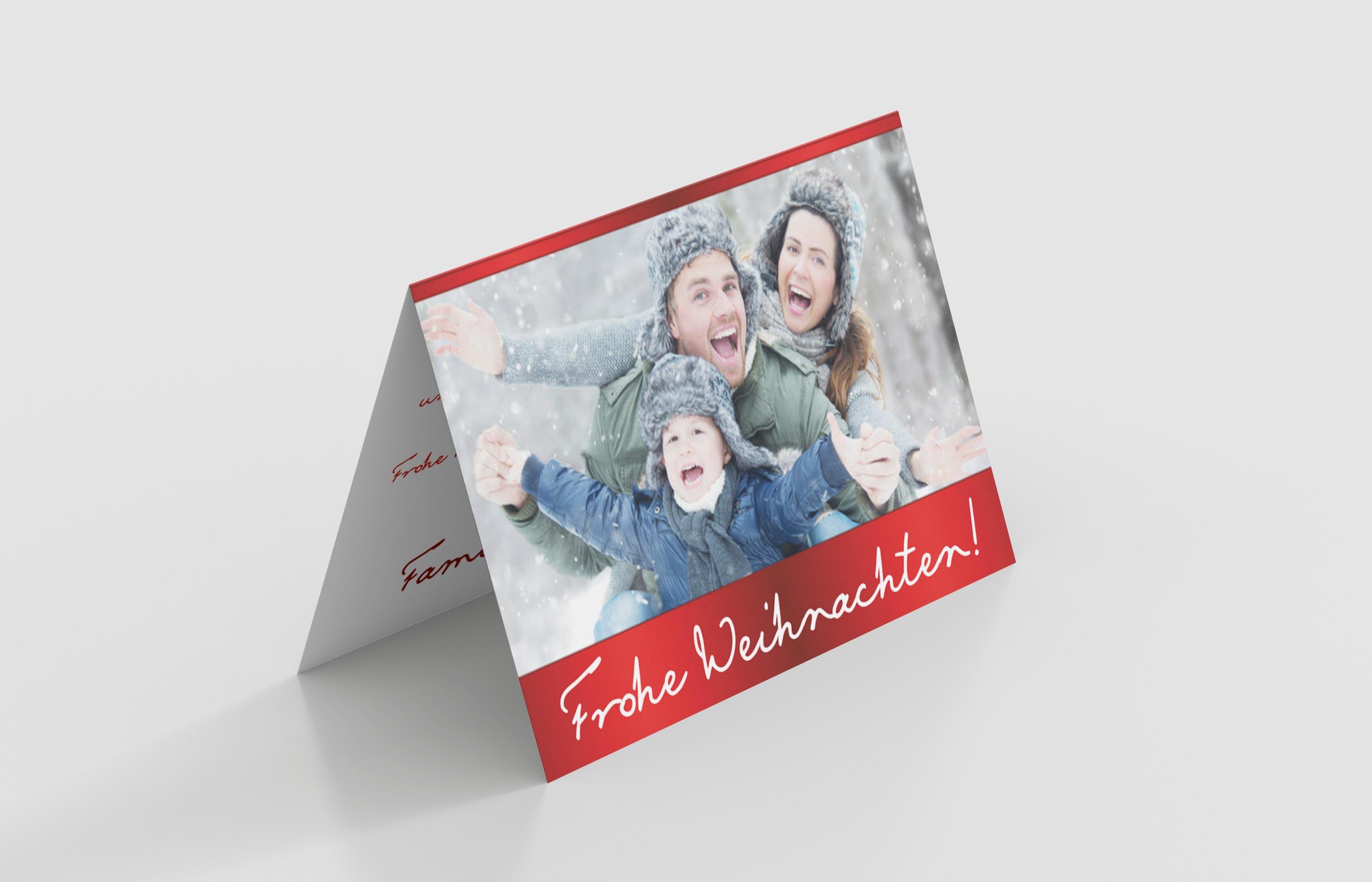 Weihnachtskarte Festlich