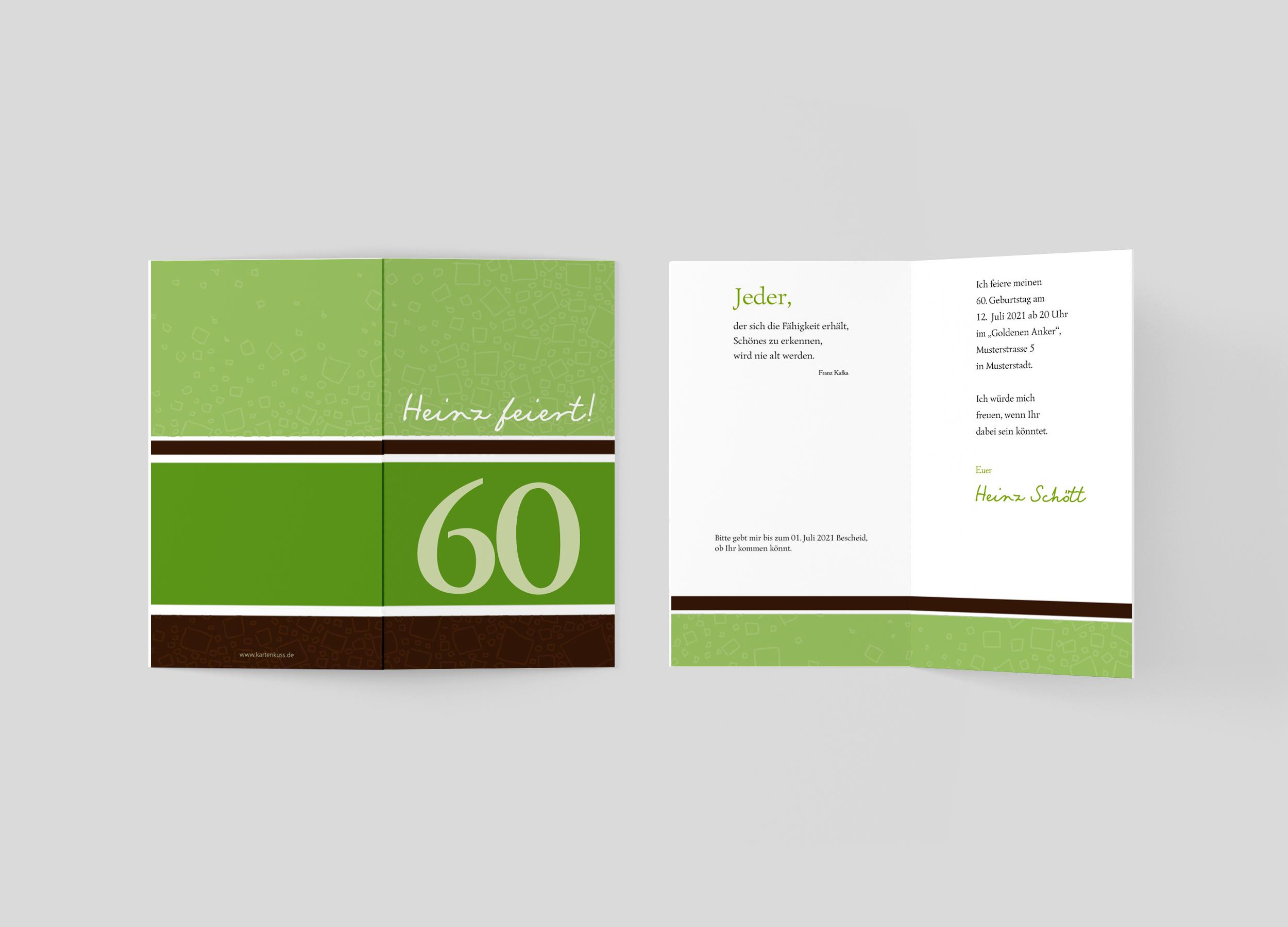 Einladungskarte Geburtstag Elegante Streifen
