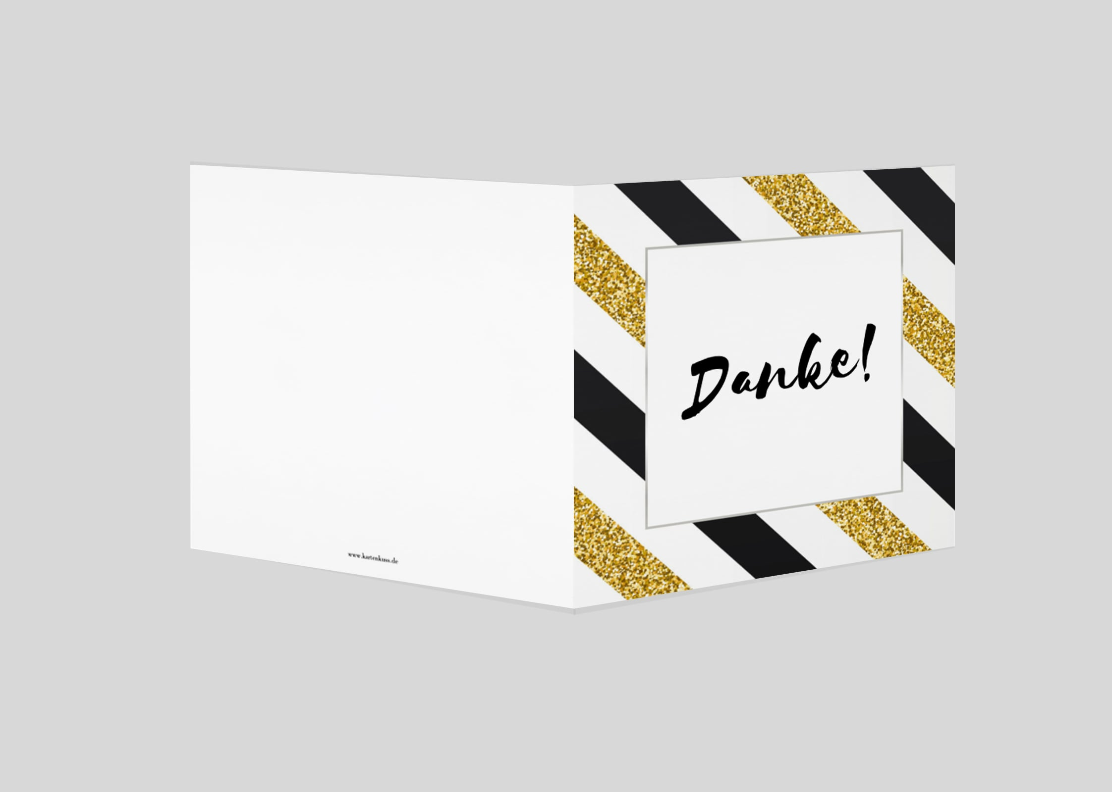 Danksagungskarte Goldener Dank