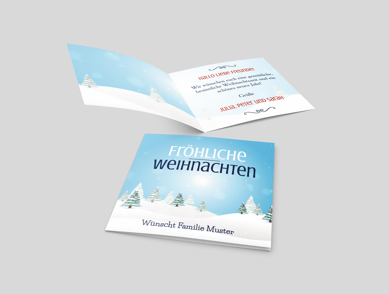 Weihnachtskarte Schneelandschaft
