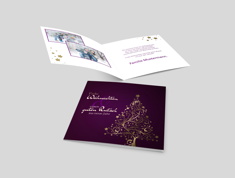 Weihnachtskarte Weihnachtszauber