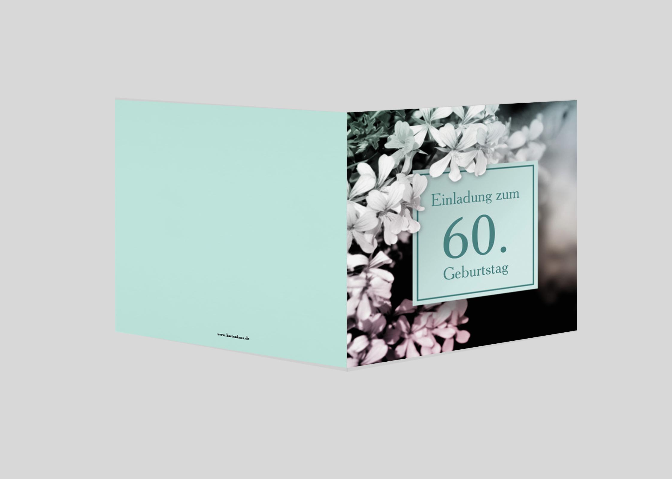 Einladungskarte Geburtstag Blütenzauber