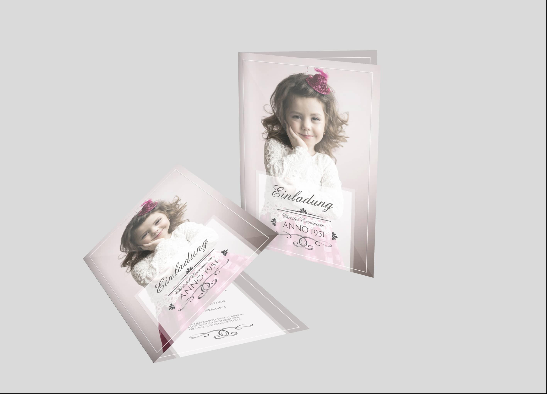 Einladungskarte Geburtstag Fotocover