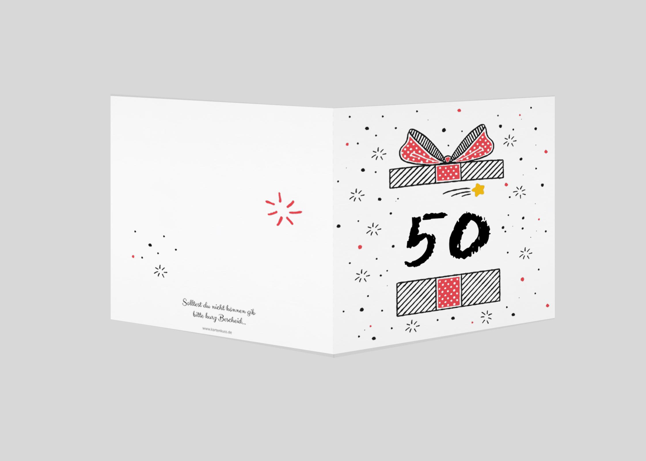 Einladungskarte Geburtstag Geschenk