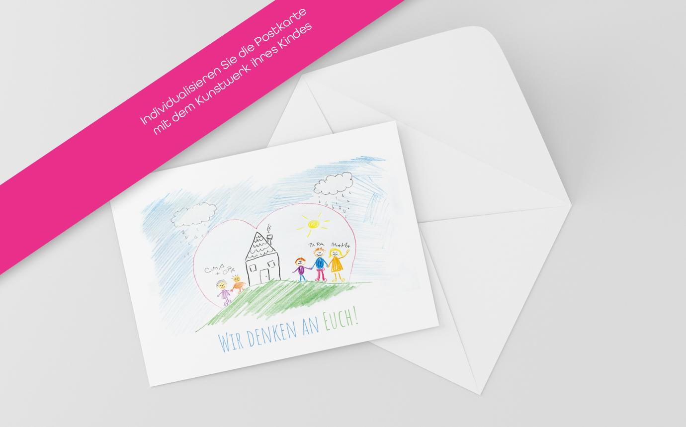 Postkarte Selbstgemalt
