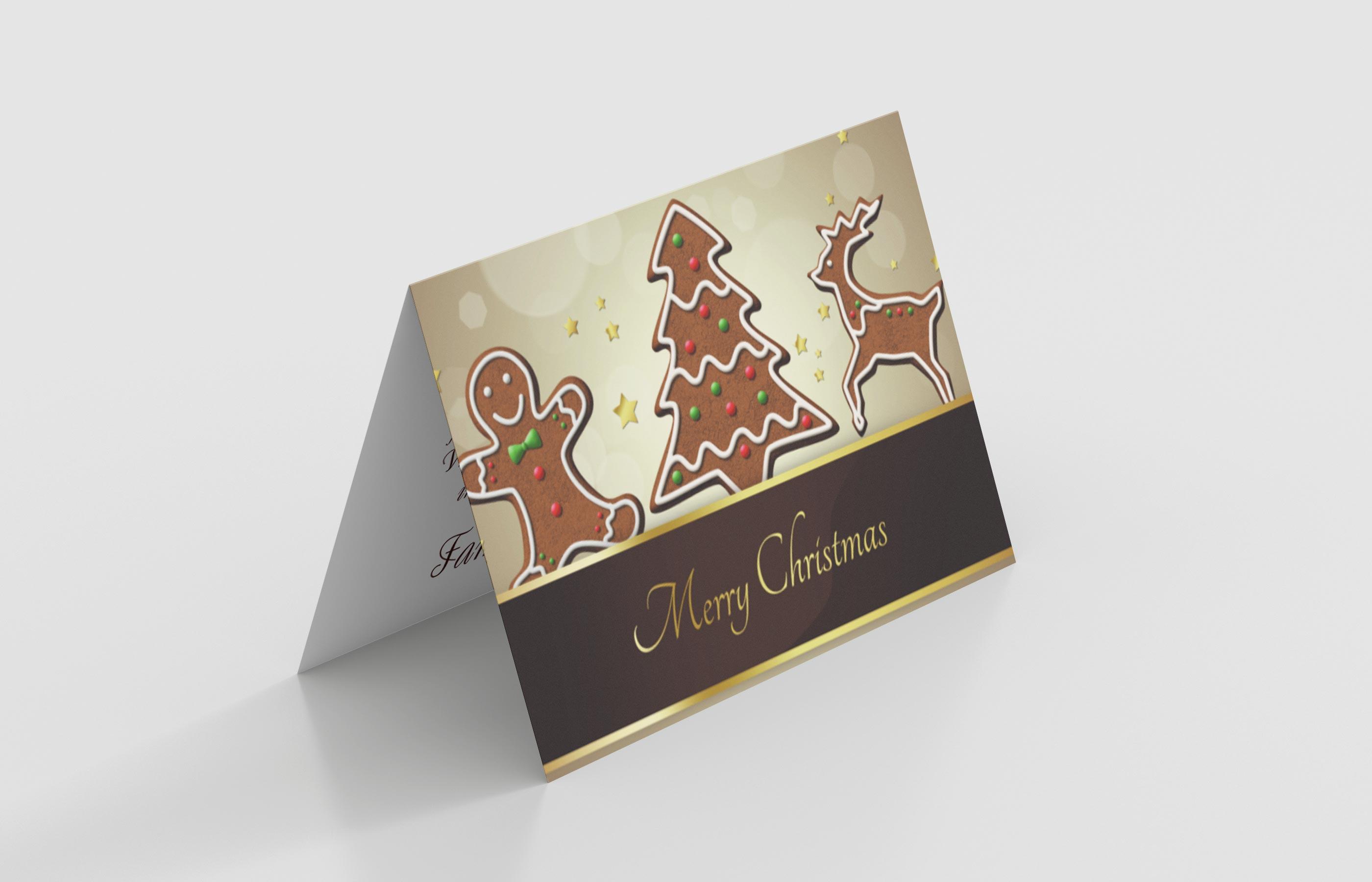 Weihnachtskarte Lebkuchen