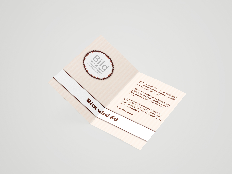 Einladungskarte Geburtstag Kronkorken