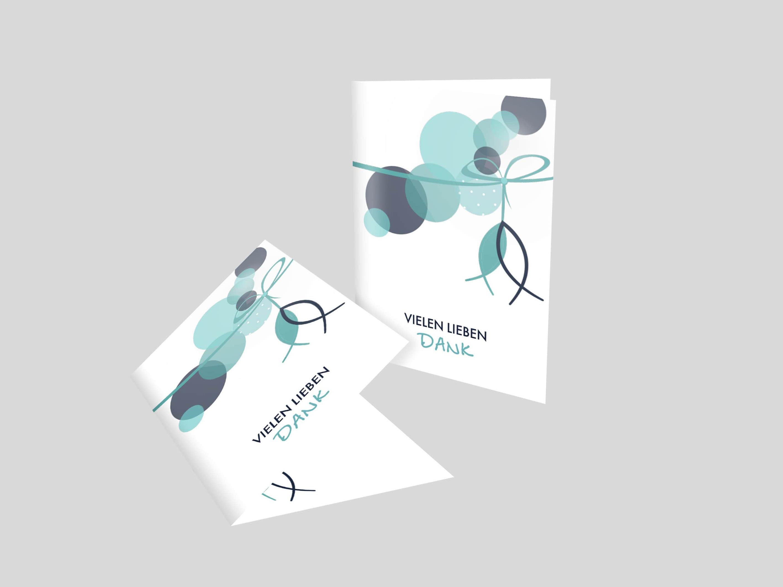 Danksagungskarte Abstrakte Schleife