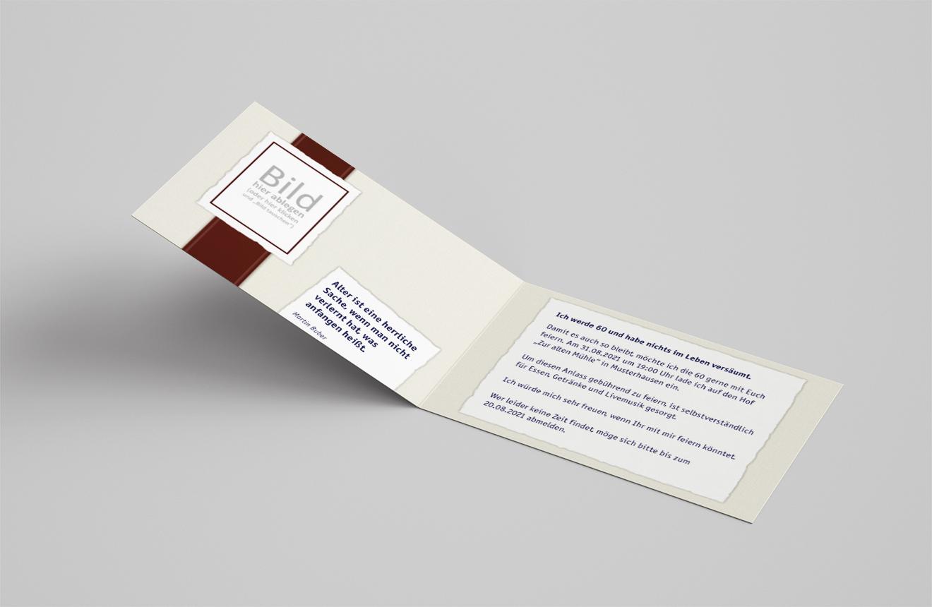 Einladungskarte Geburtstag Bordüre