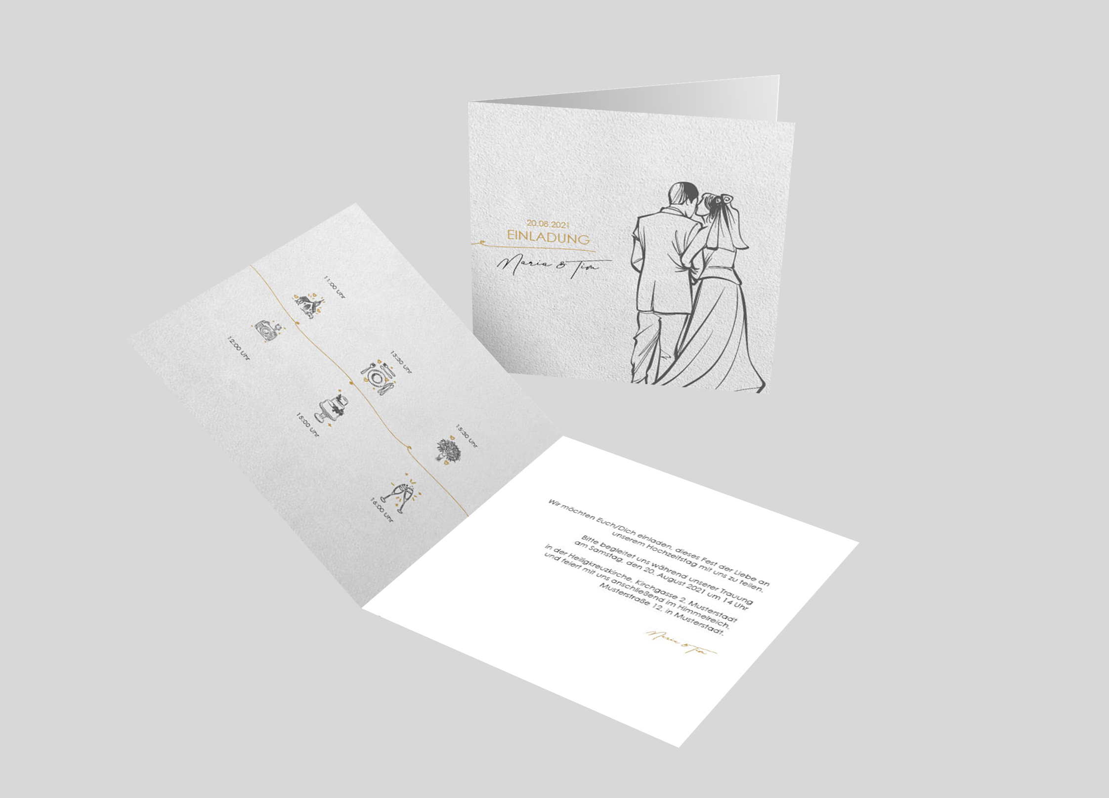 Hochzeitseinladung Forever