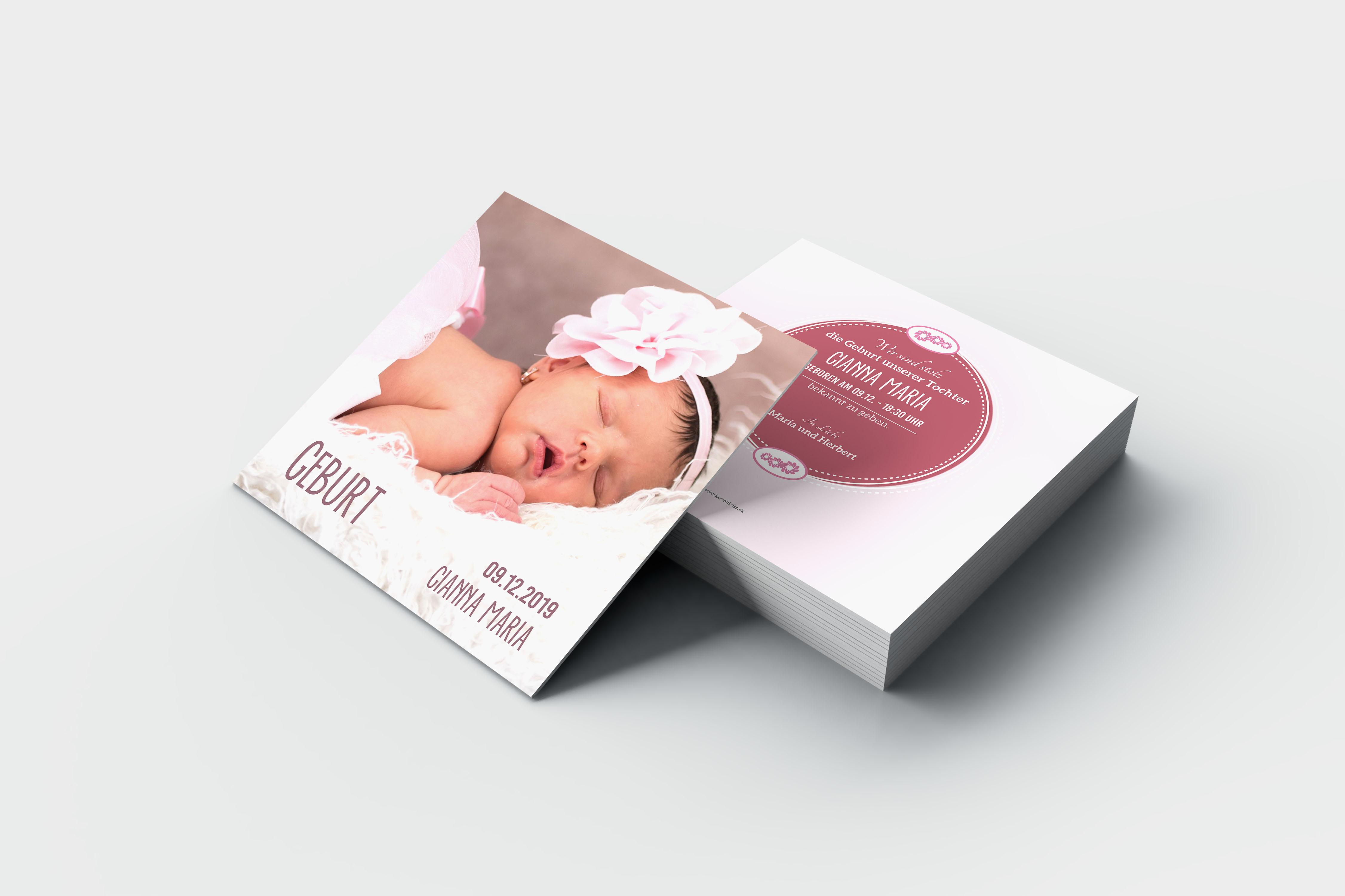Babykarte Gianna
