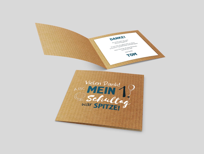 Danksagungskarte Einschulung Karton