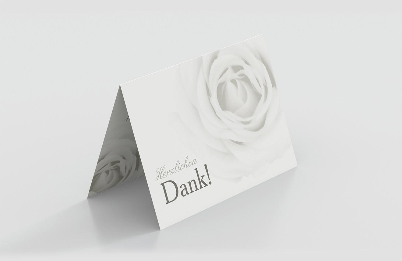 Dankeskarte Goldene Hochzeit Elegante Rose