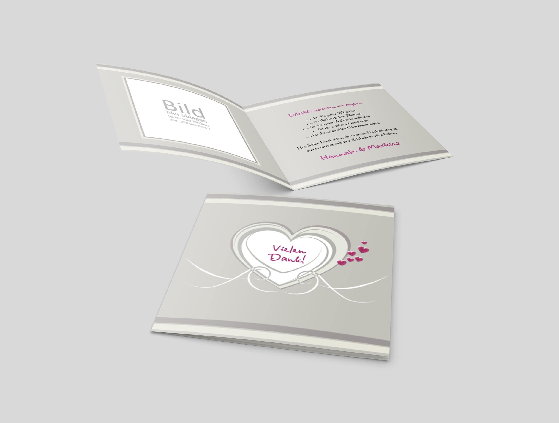 Danksagungskarte Hochzeit Hochzeitsherz