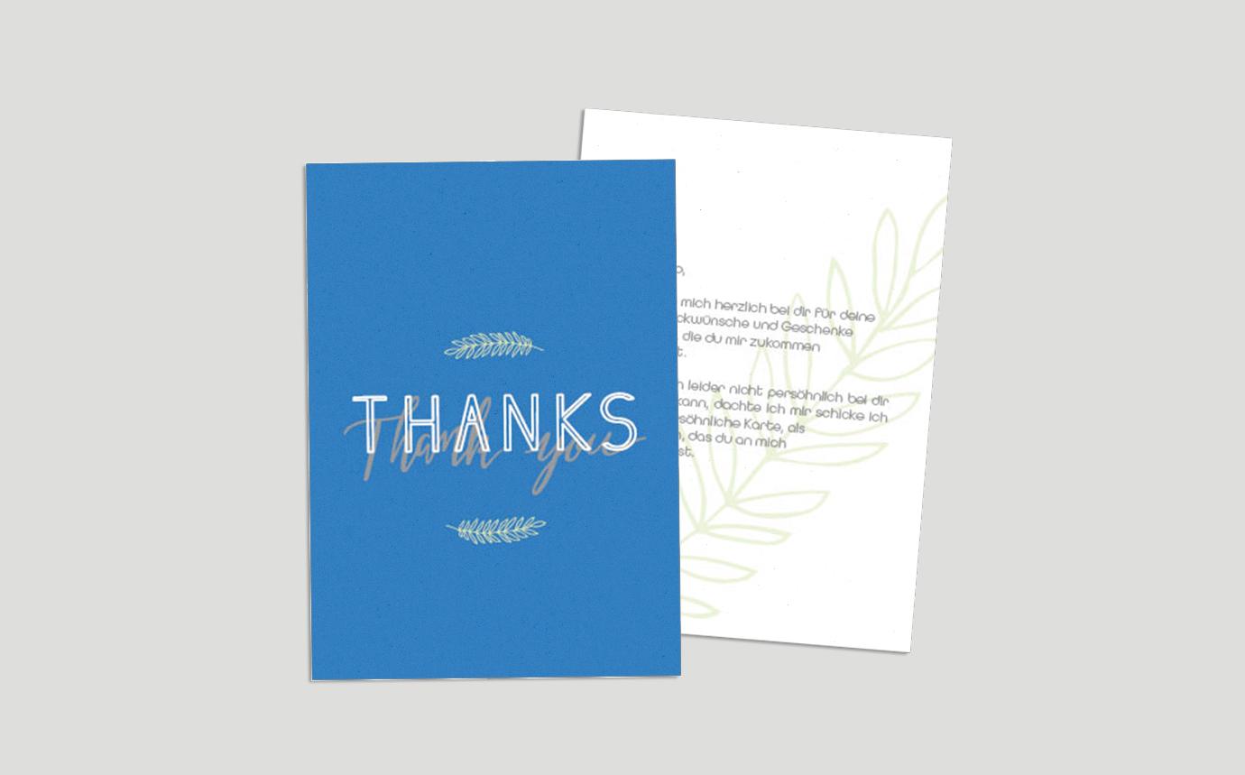 Dankeskarte Floral
