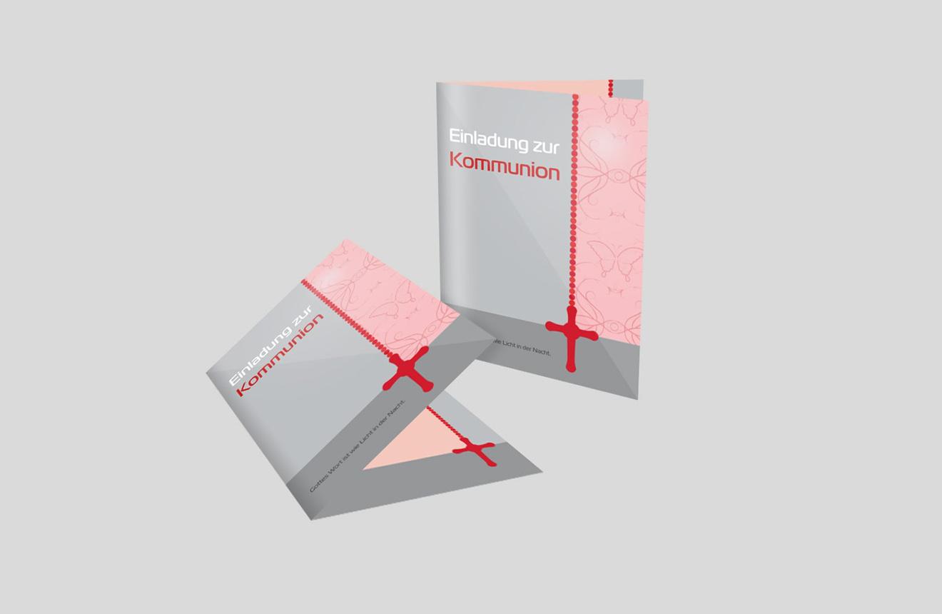 Einladungskarte Kommunion Kommunionskette