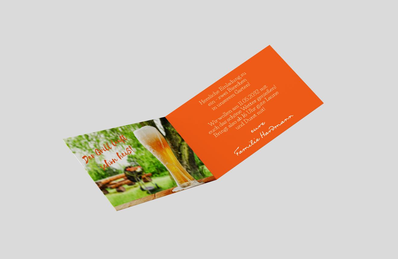 Einladungskarte Gartenfest