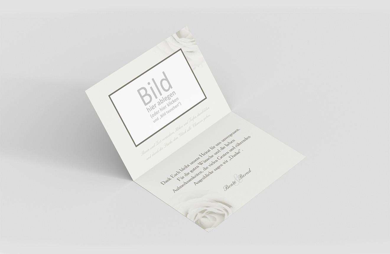 Danksagungskarte Goldene Hochzeit Elegante Rose