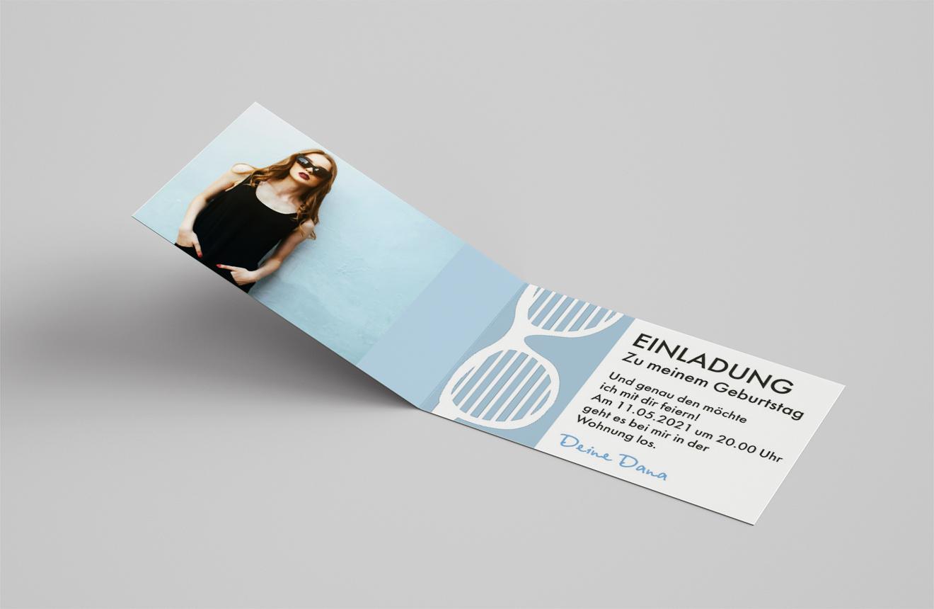 Einladungskarte Geburtstag Sonnenbrille