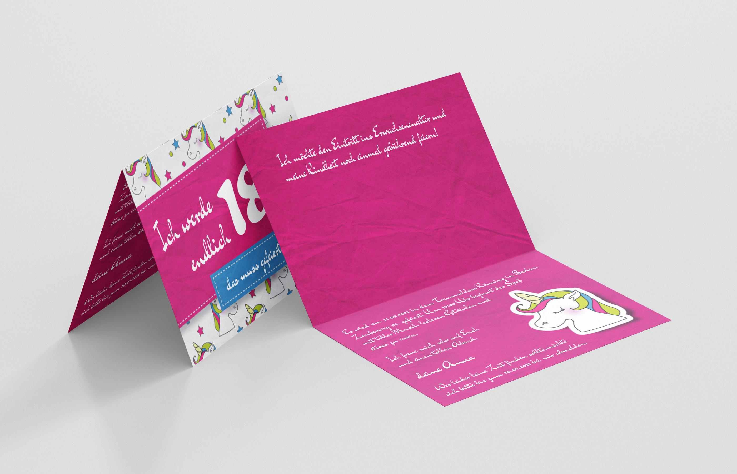 Einladungskarten Geburtstag Zauberhafte Einladung