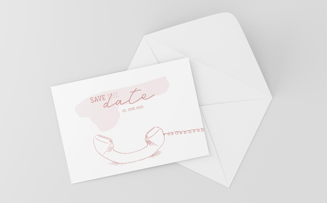 Save the Date Karte Hochzeit Accessoire