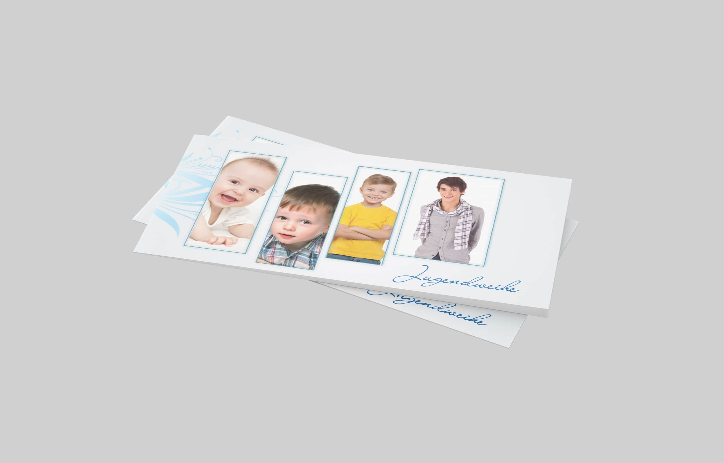 Einladungskarte Jugendweihe Bilderkette